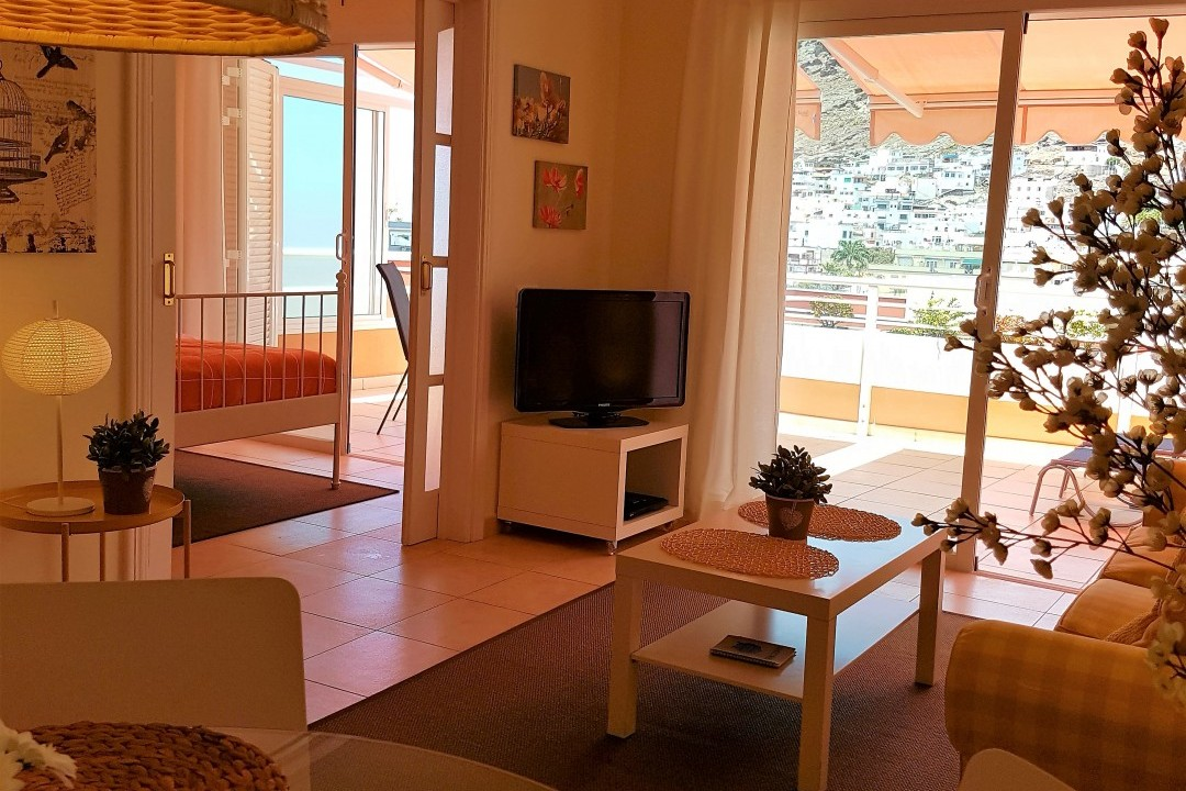 Paraiso 1 - 1 Bed Apartment - Calle La Puntilla - Living Area with TV