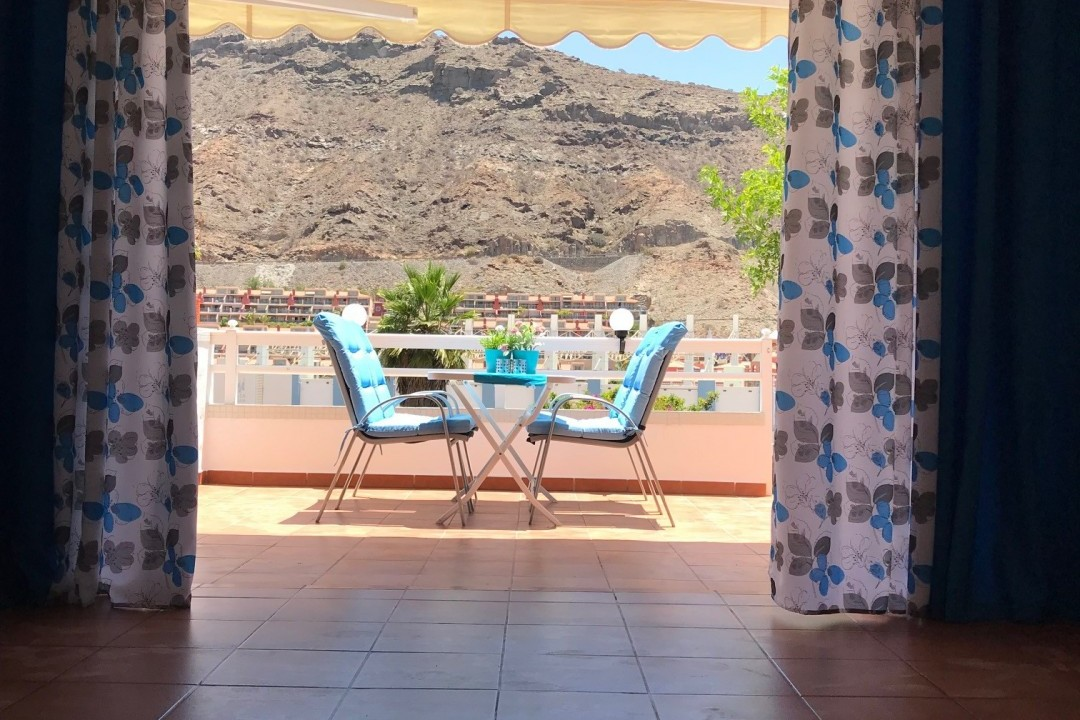 Mogan  El  Marinero -  1  bedroom + 2 bathrooms. - Morning Terrace View