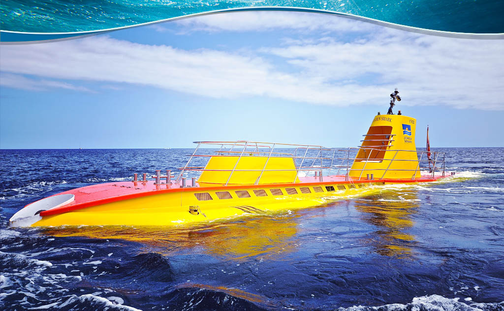 Gran Canaria Attractions: The Yellow Submarine of Puerto de Mogan - Yellow submarine adventure, Puerto Mogan